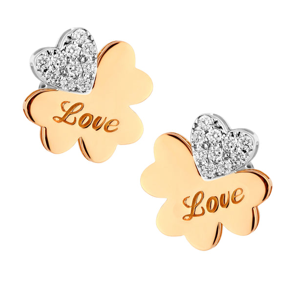 Exclusive Clover Flower Diamond Earrings - KARP Jewellery