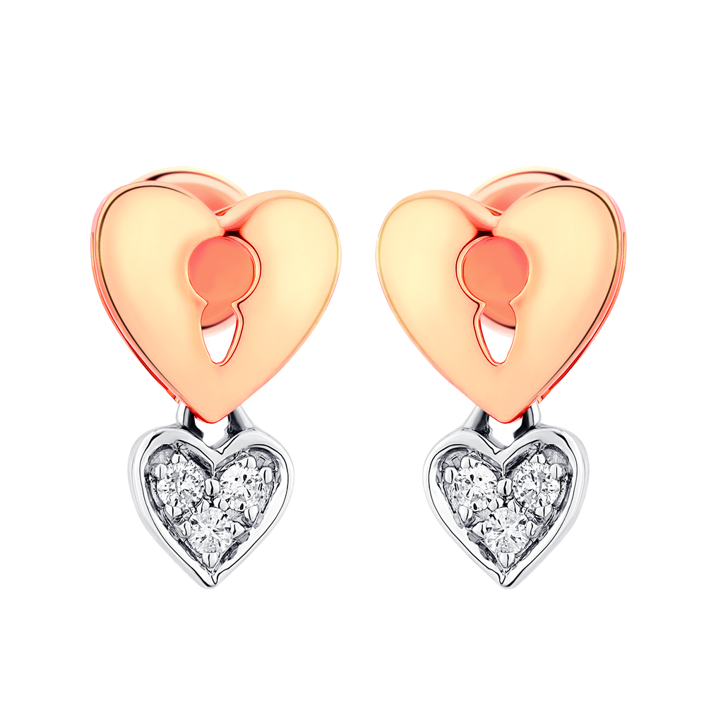 Love Lock Diamond Earrings