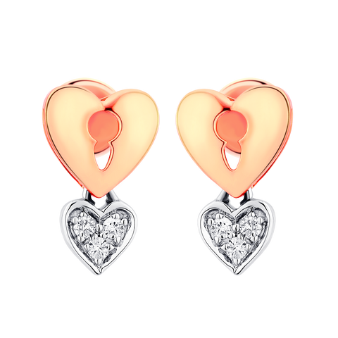 Love Lock Diamond Earrings - KARP Jewellery