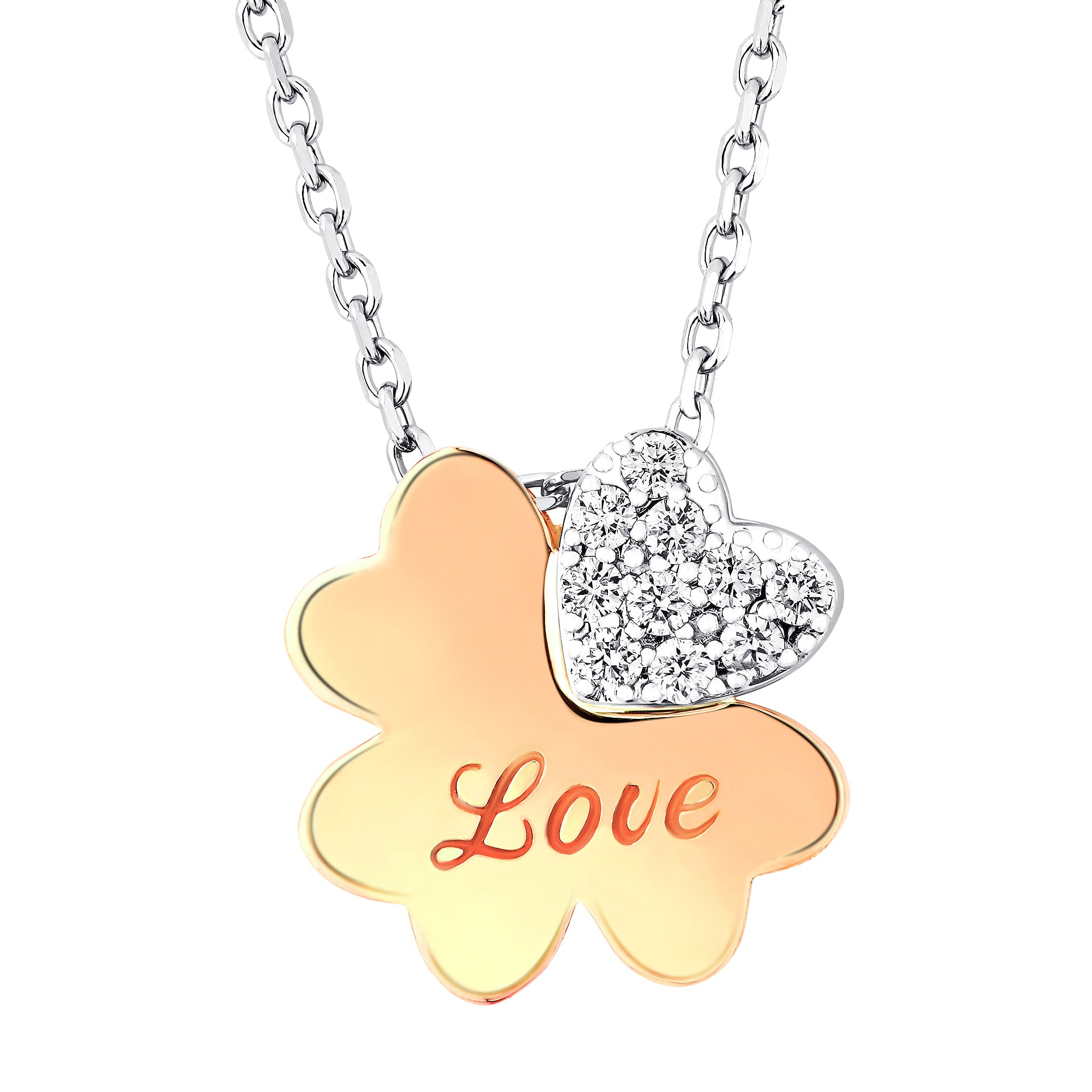 Exclusive Clover Flower Diamond Chain Necklace - KARP Jewellery