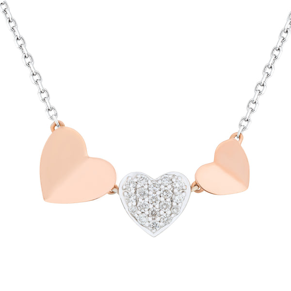 Minimalist Two Tone Heart Choker - KARP Jewellery