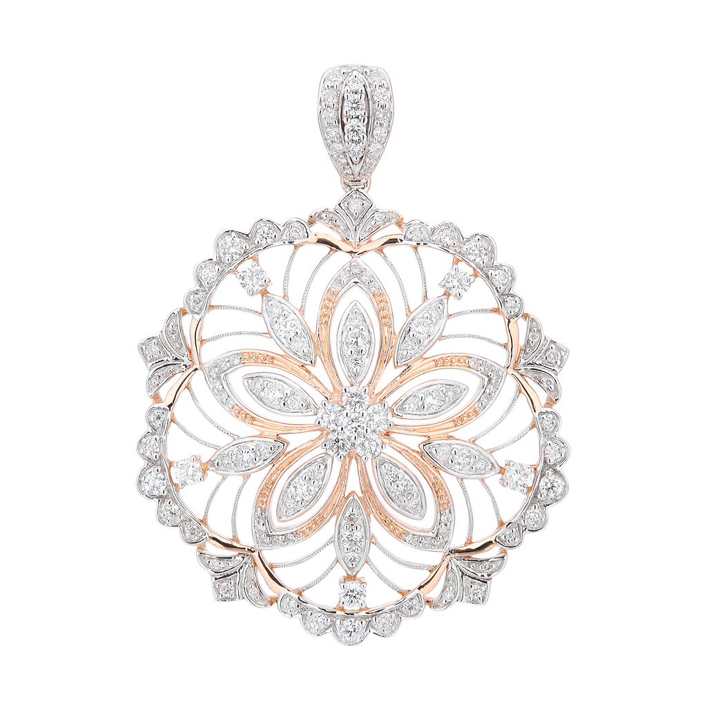 Ethnic Filigree Diamond Pendant - KARP Jewellery