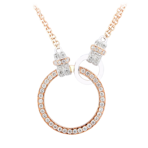 Link By Link Two Tone Circle Diamond Necklace - KARP Jewellery