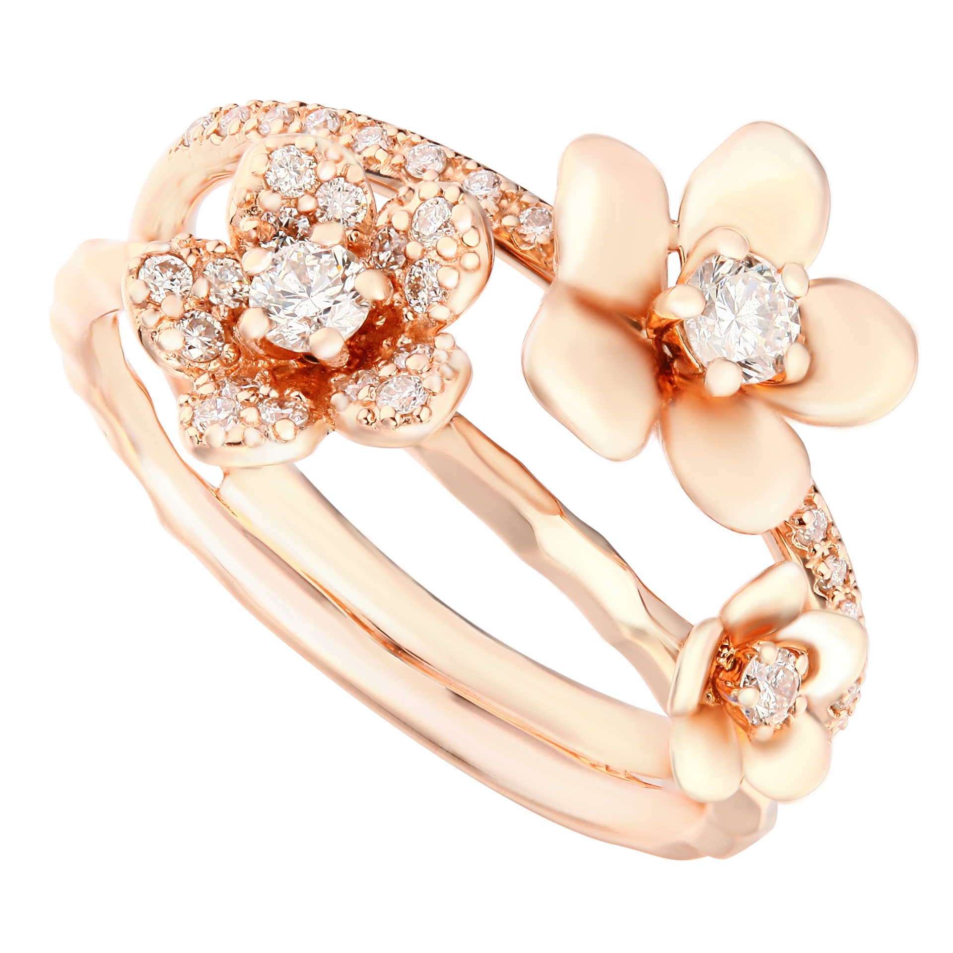 Diaphanous Rose Gold Diamond Ring - KARP Jewellery