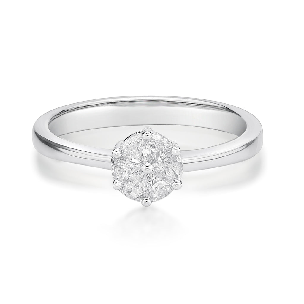 Illusion Set Diamond Ring - KARP Jewellery