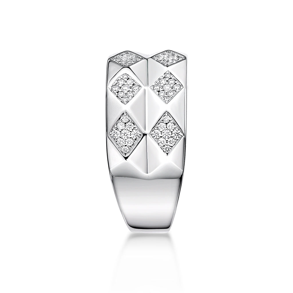 Bold Modern Rhombus Diamond Ring - KARP Jewellery