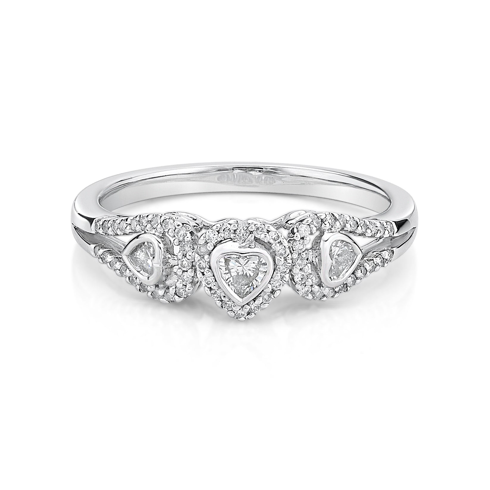 Romantic Heart Shape Diamond Ring - KARP Jewellery
