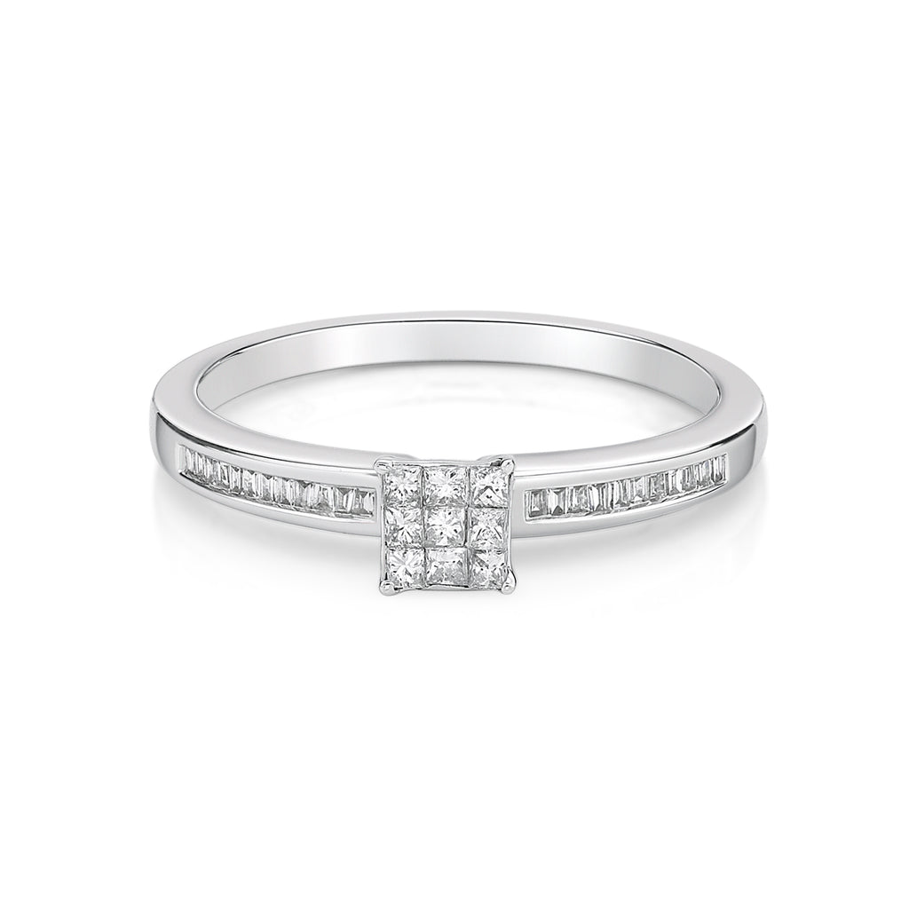 Classic Princess Cut Diamond Ring - KARP Jewellery