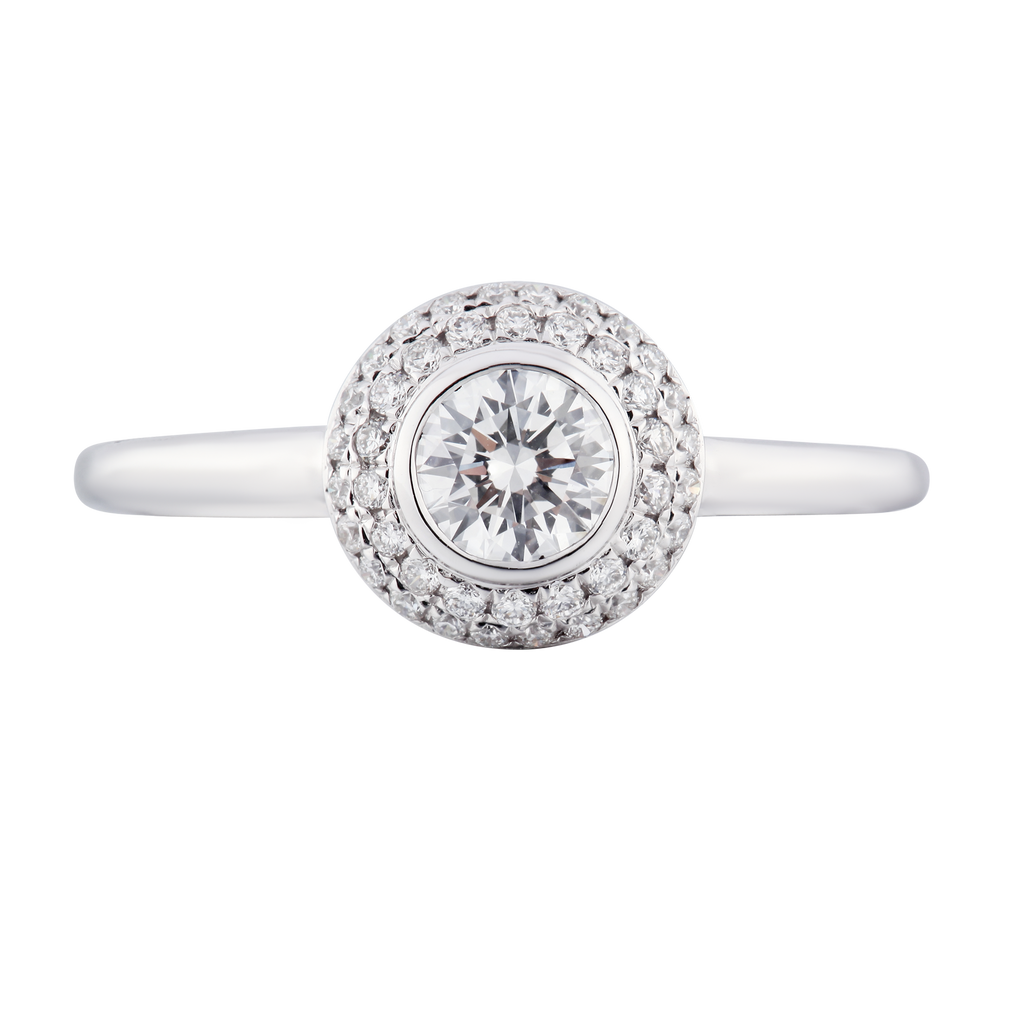 Simply Stunning Halo Diamond Ring - KARP Jewellery