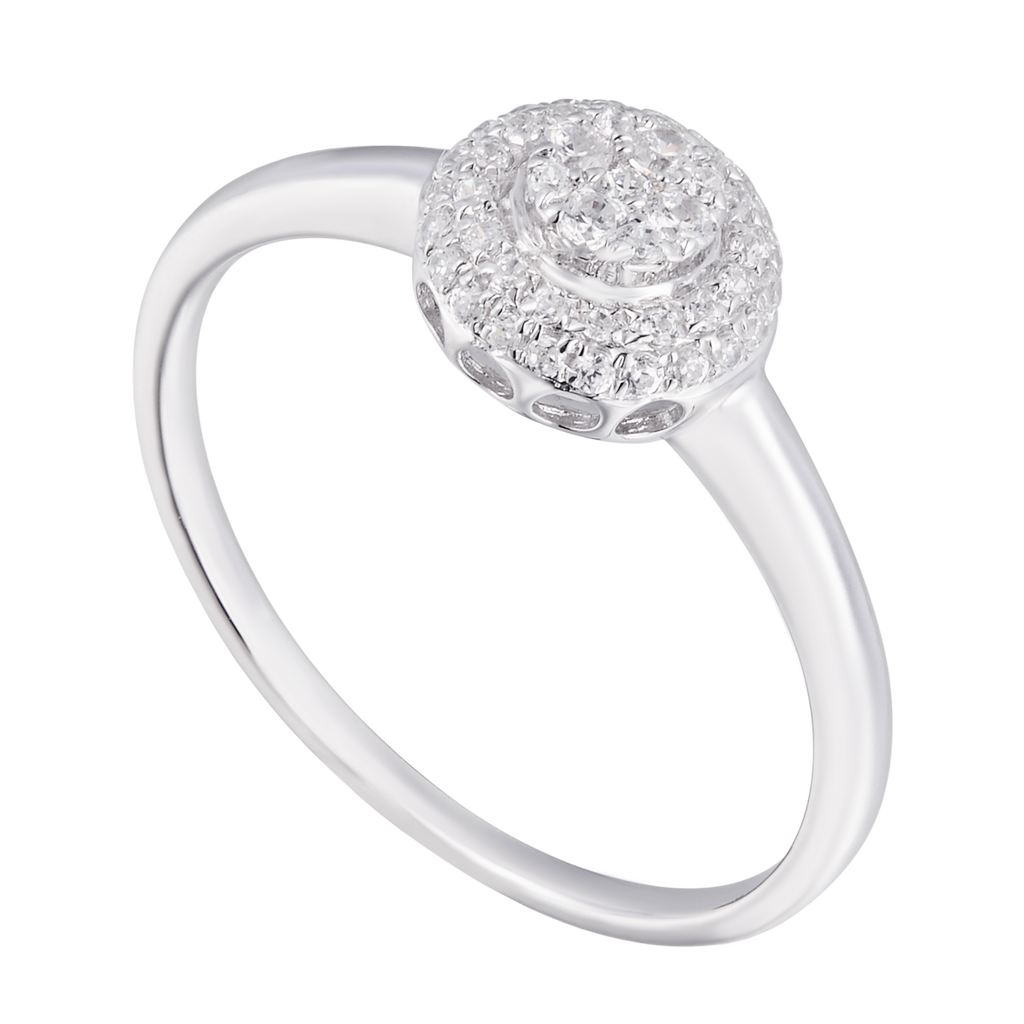 Ideal Cluster Diamond Ring