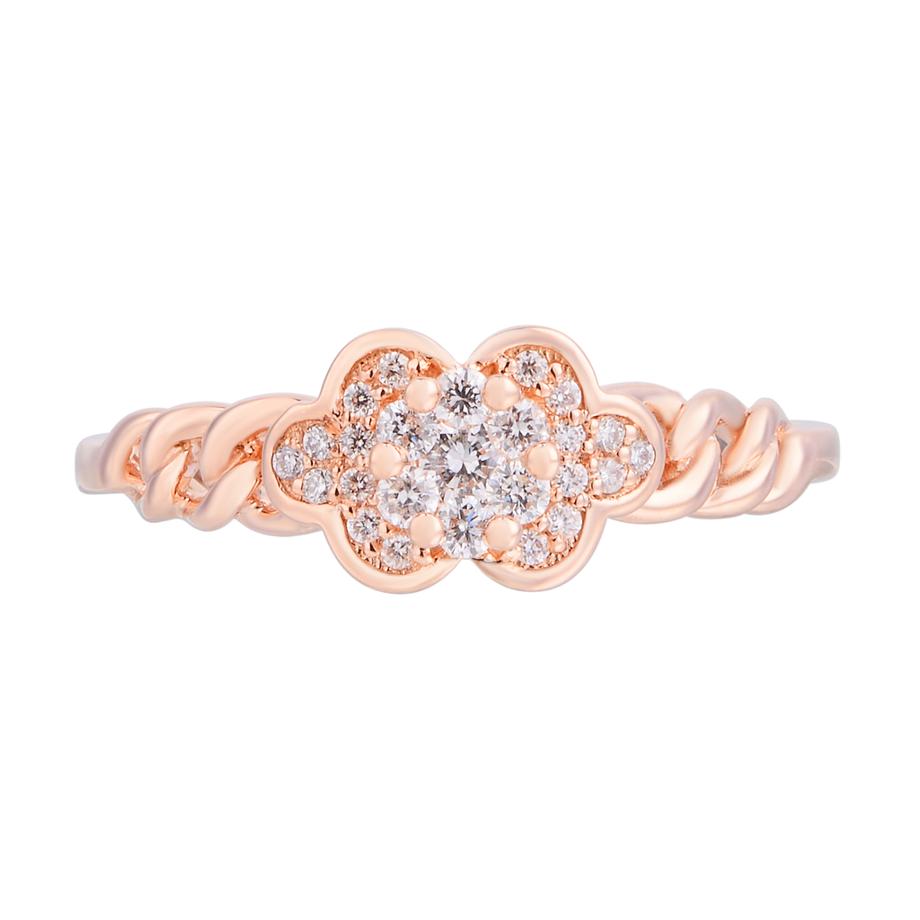Dainty Diamond Chain Ring - KARP Jewellery