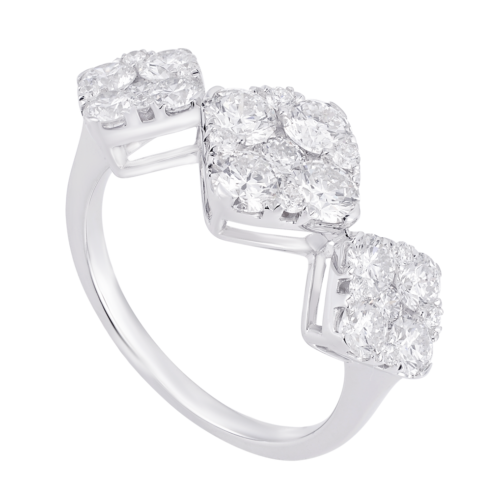 Rhombus Trinity Diamond Ring - KARP Jewellery