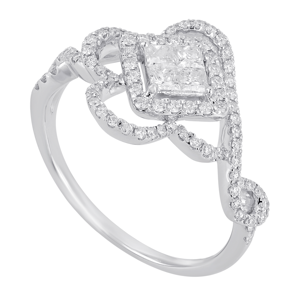 Invisible Set Diamond Ring - KARP Jewellery