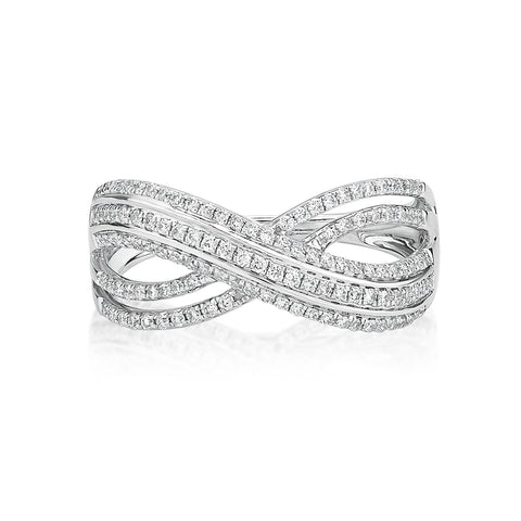 Elegant Fashion Twisted Diamond Ring - KARP Jewellery