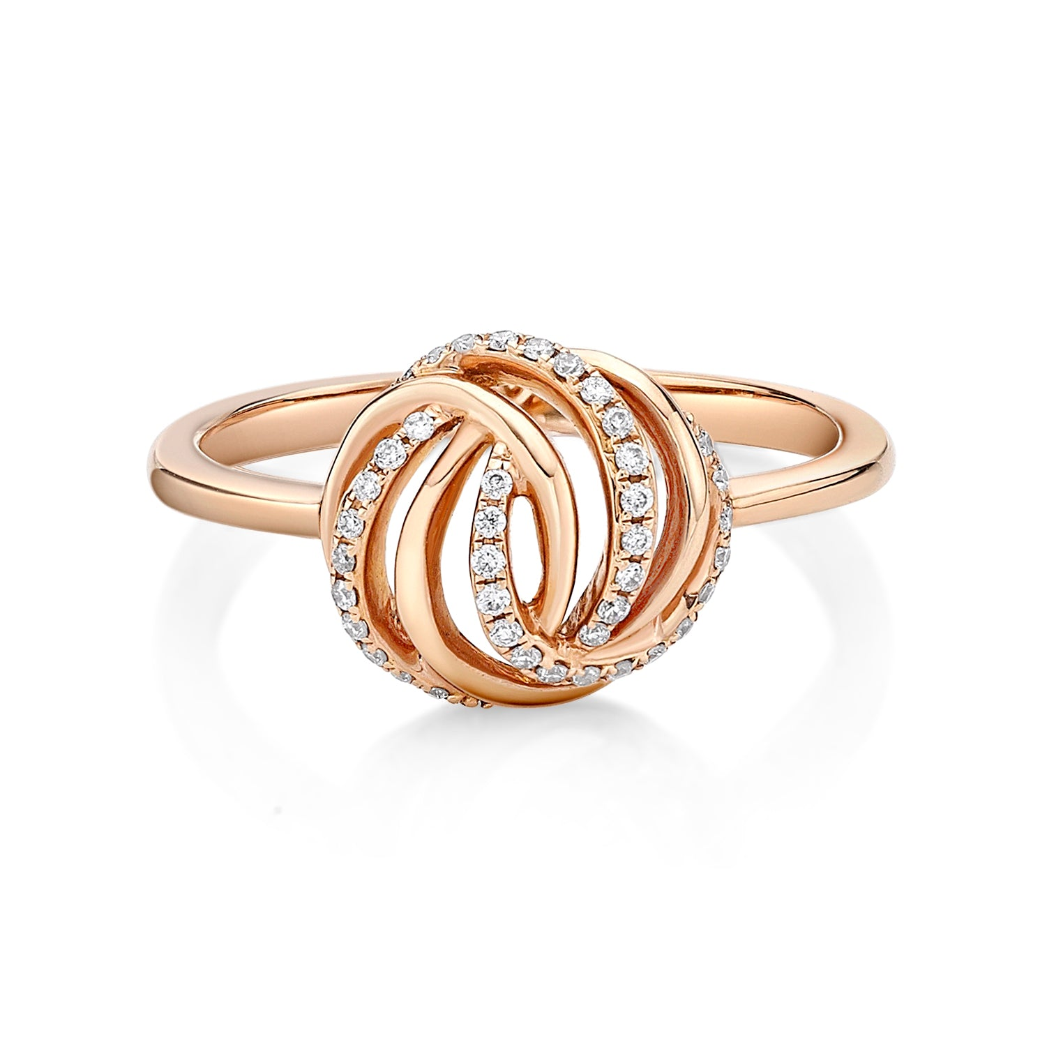 Dramatic Infinity Knot Diamond Ring - KARP Jewellery