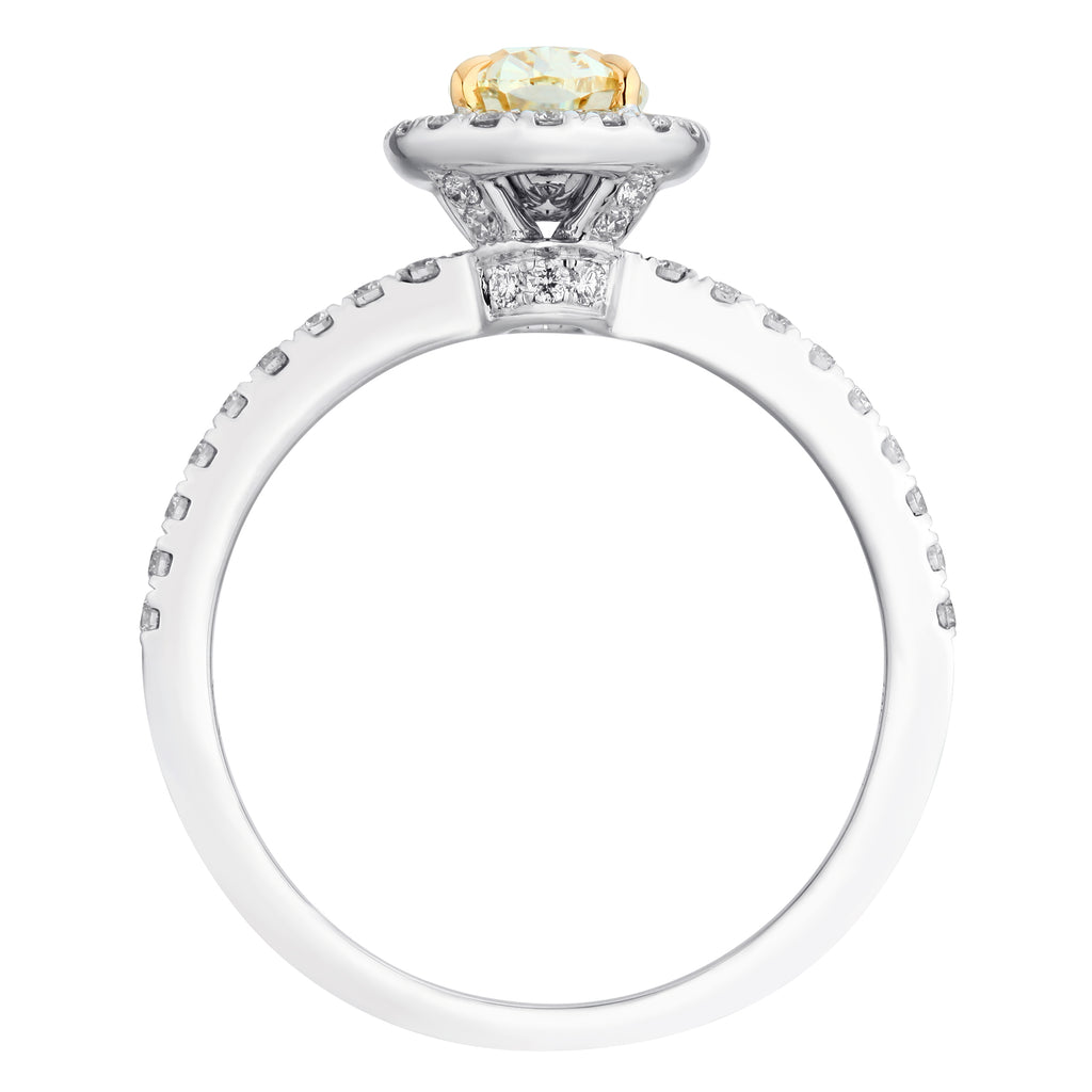 Natural Fancy Yellow Oval Cut Diamond Ring - KARP Jewellery