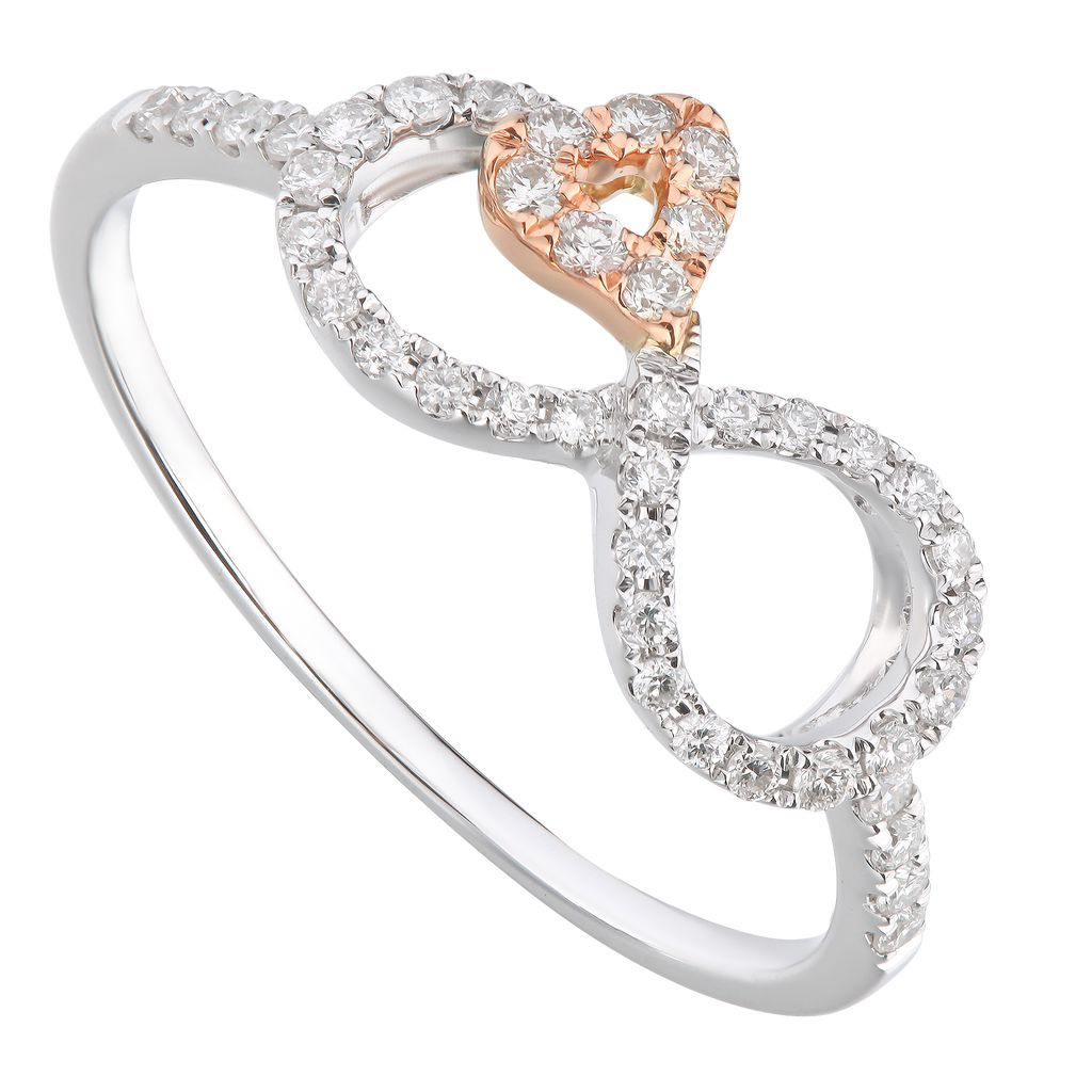 Stylish Two Tone Diamond Ring - KARP Jewellery