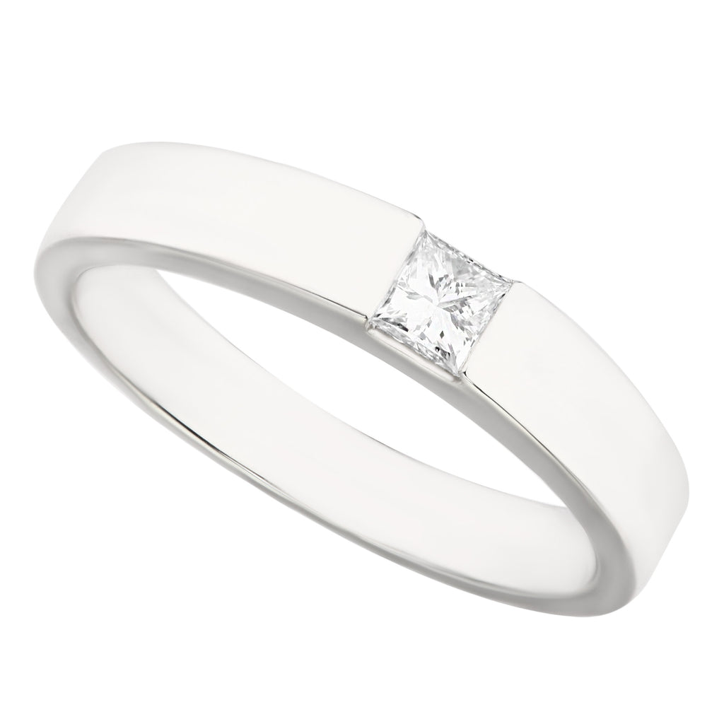 Elegant Sleek Diamond Ladies Wedding Ring - KARP Jewellery