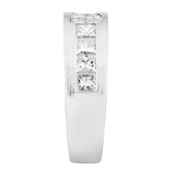 Invisible Set Princess Cut Diamond Ladies Ring