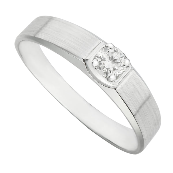 Professionally Handcrafted White Gold Polished Men's Ring