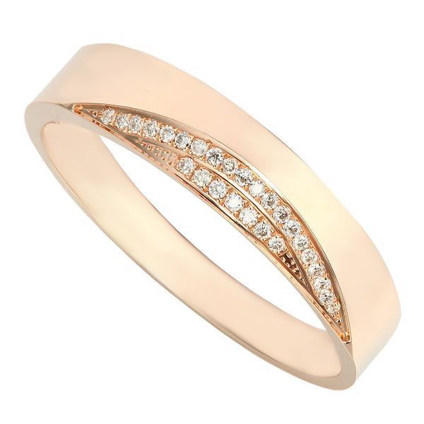 Extraordinary Handcrafted Rose Gold Diamond Men's Ring