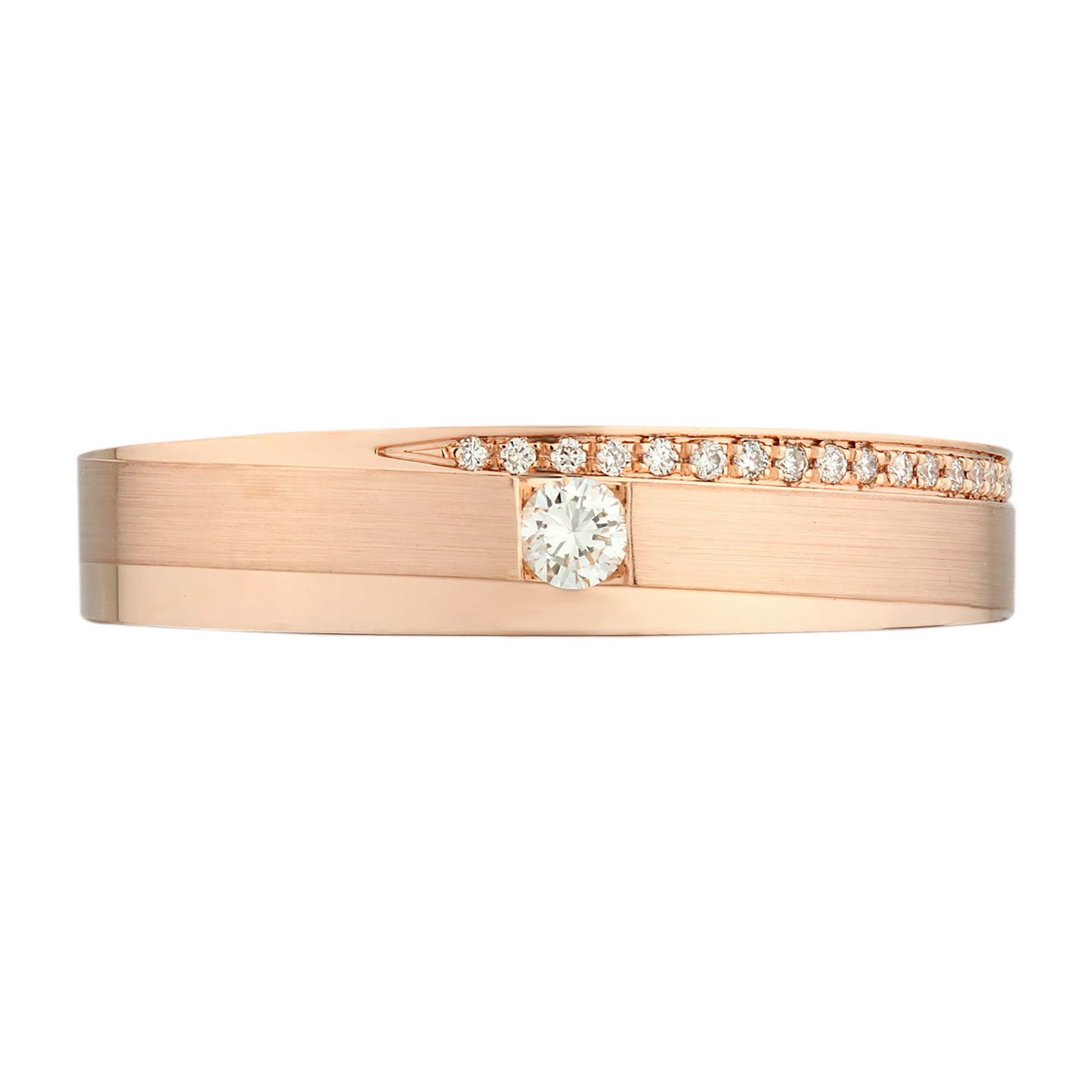 Comfort Fit Classic Rose Gold Diamond Men's Ring - KARP Jewellery