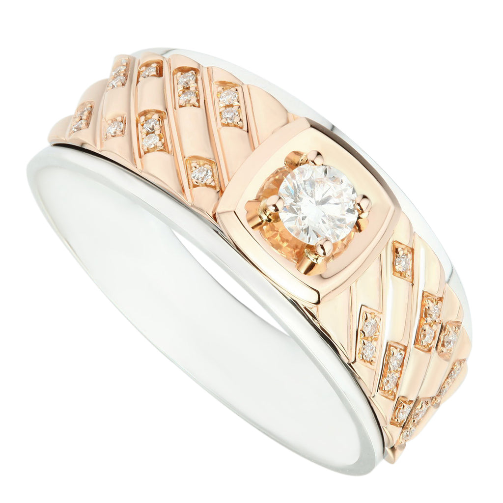 Everlasting Two Tone Diamond Men's Ring - KARP Jewellery