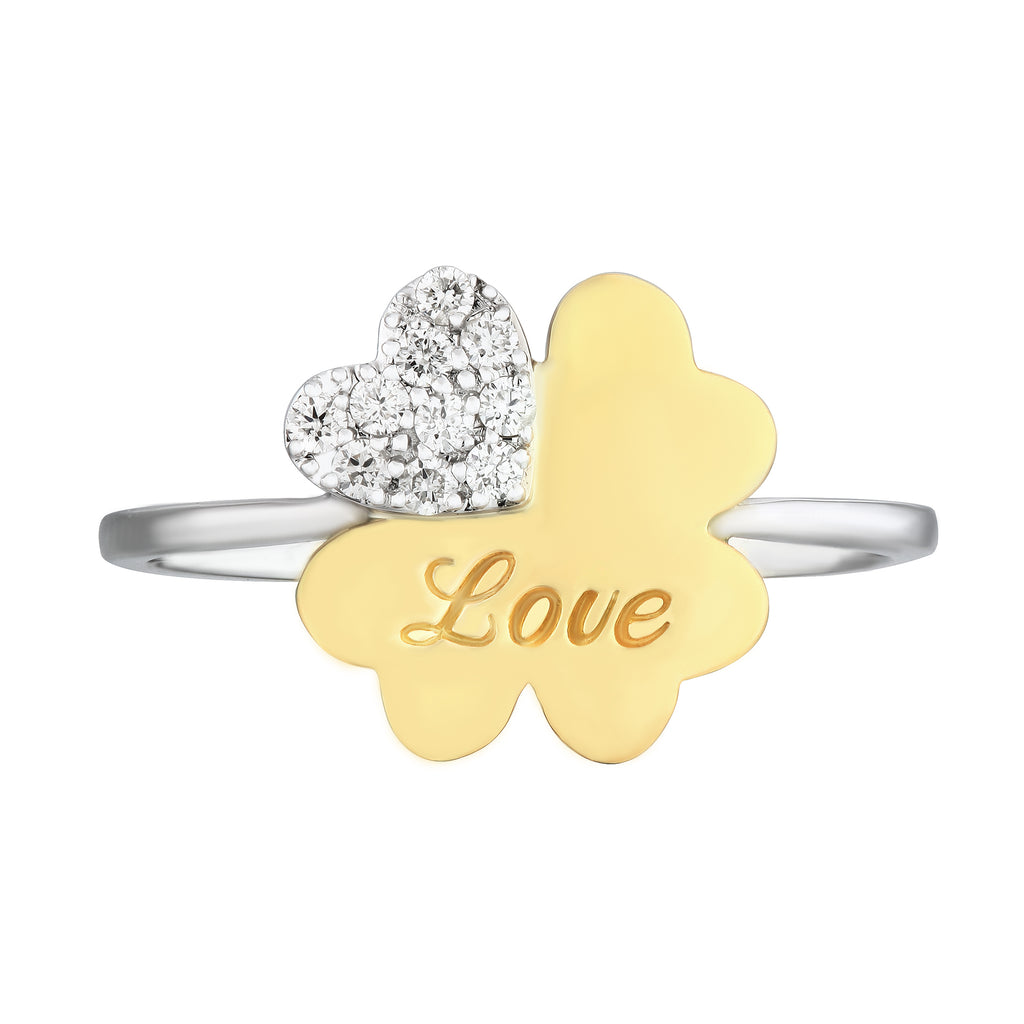 Exclusive Clover Flower Diamond Ring - KARP Jewellery