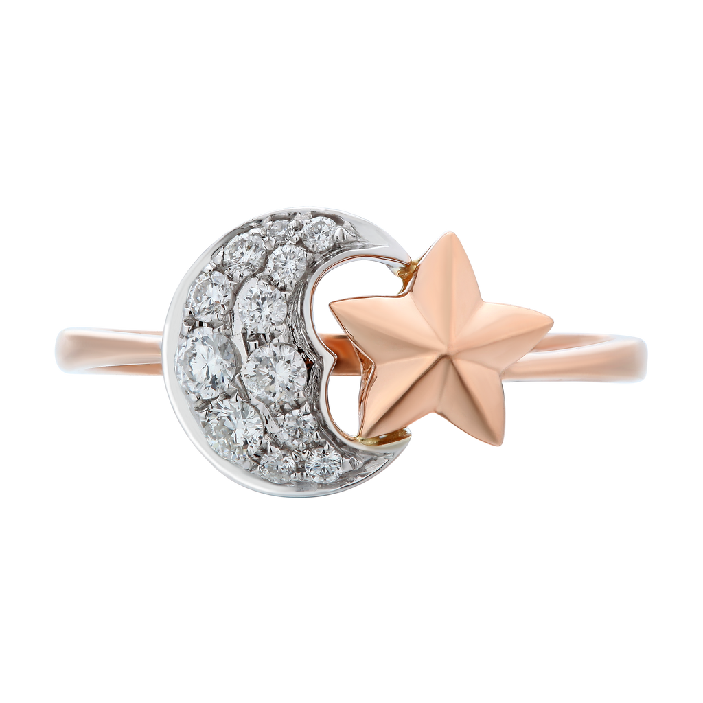 Star Celestial Two Tone Ring - KARP Jewellery