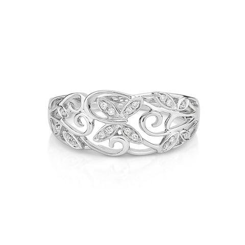 Delightful Butterfly DIAMOND RING - KARP Jewellery