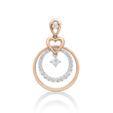 Circle & Heart Pendant - KARP Jewellery