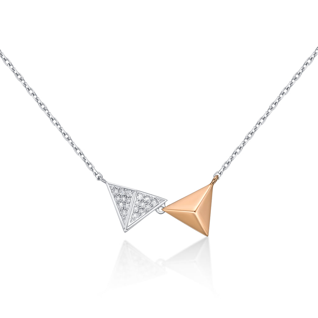 Pyramid Pair Necklace