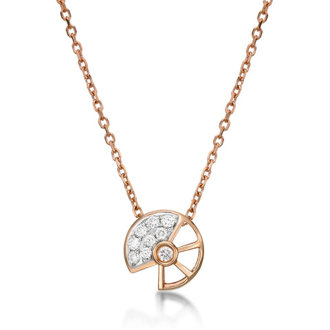 Seashell Wheel Pendant - KARP Jewellery