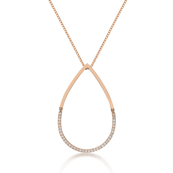 Tear Drop Cutout Necklace - KARP Jewellery
