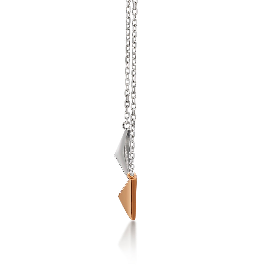 Pyramid Pair Necklace - KARP Jewellery