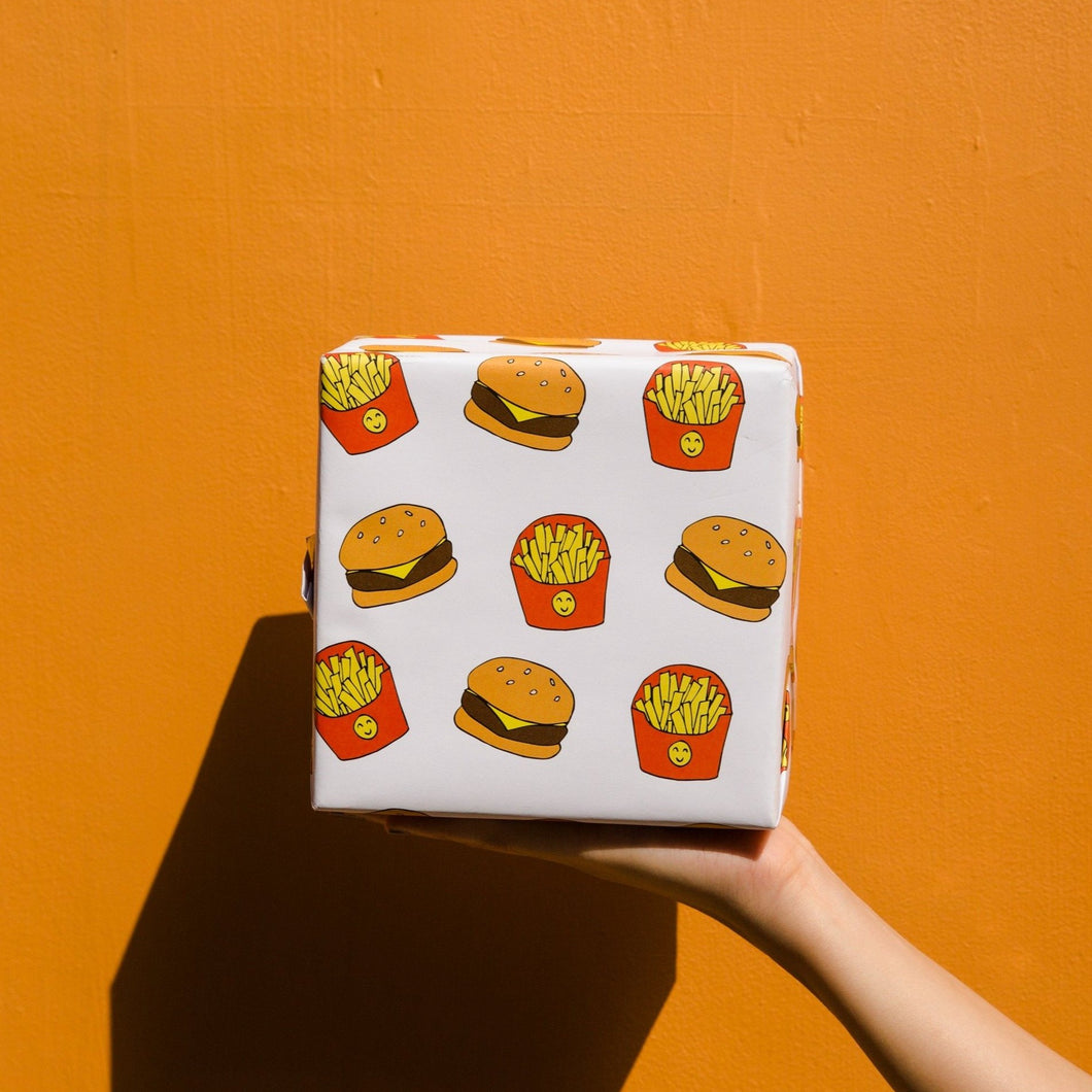 Burger Fries Rapping Paper
