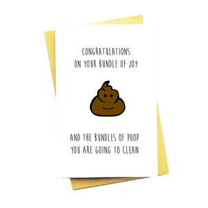 Congratulations On Your Bundle of Joy and Bundle of Poop