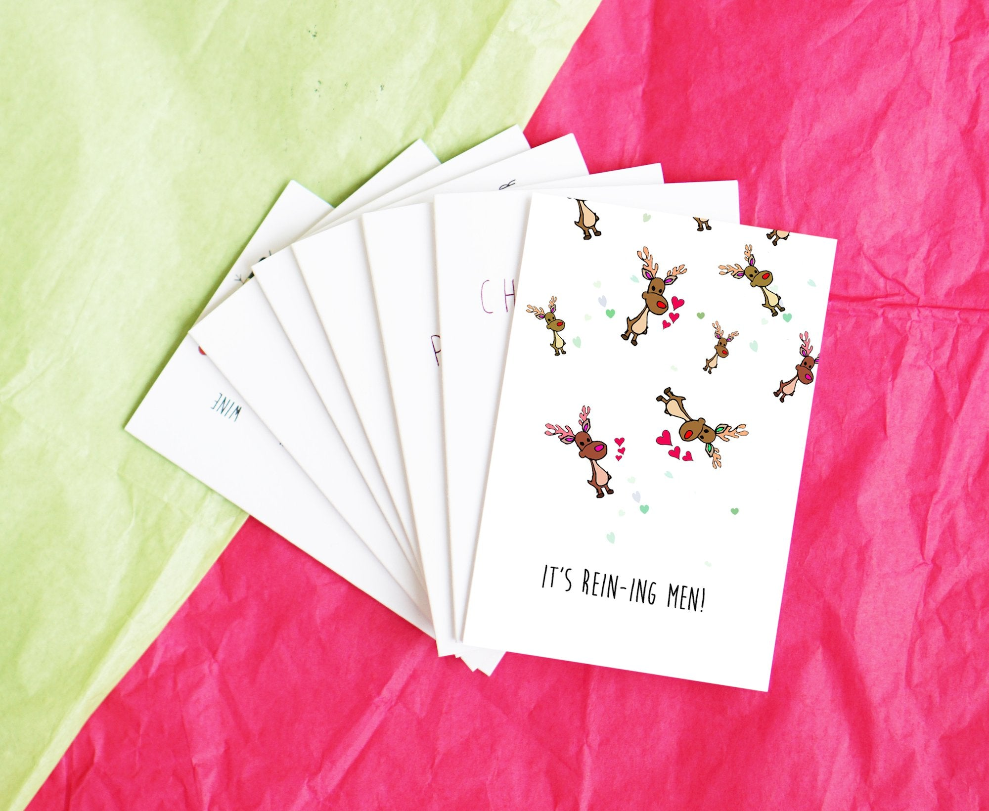 Custom mini holiday cards for Topshop