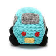 Pebble Rattle – Car Turquoise Rear