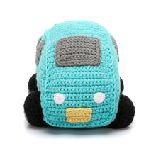 Pebble Rattle – Car Turquoise Front