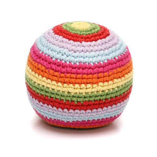 Pebble Rattle – Stripey Ball Multi