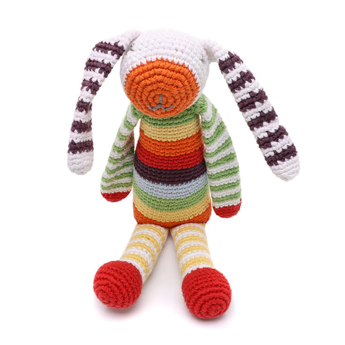Pebble Rattle – Bunny Multi