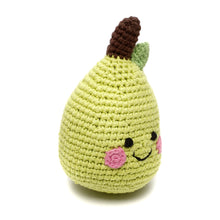 Pebble Food Rattle – Friendly Pear side right