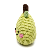 Pebble Food Rattle – Friendly Pear side left