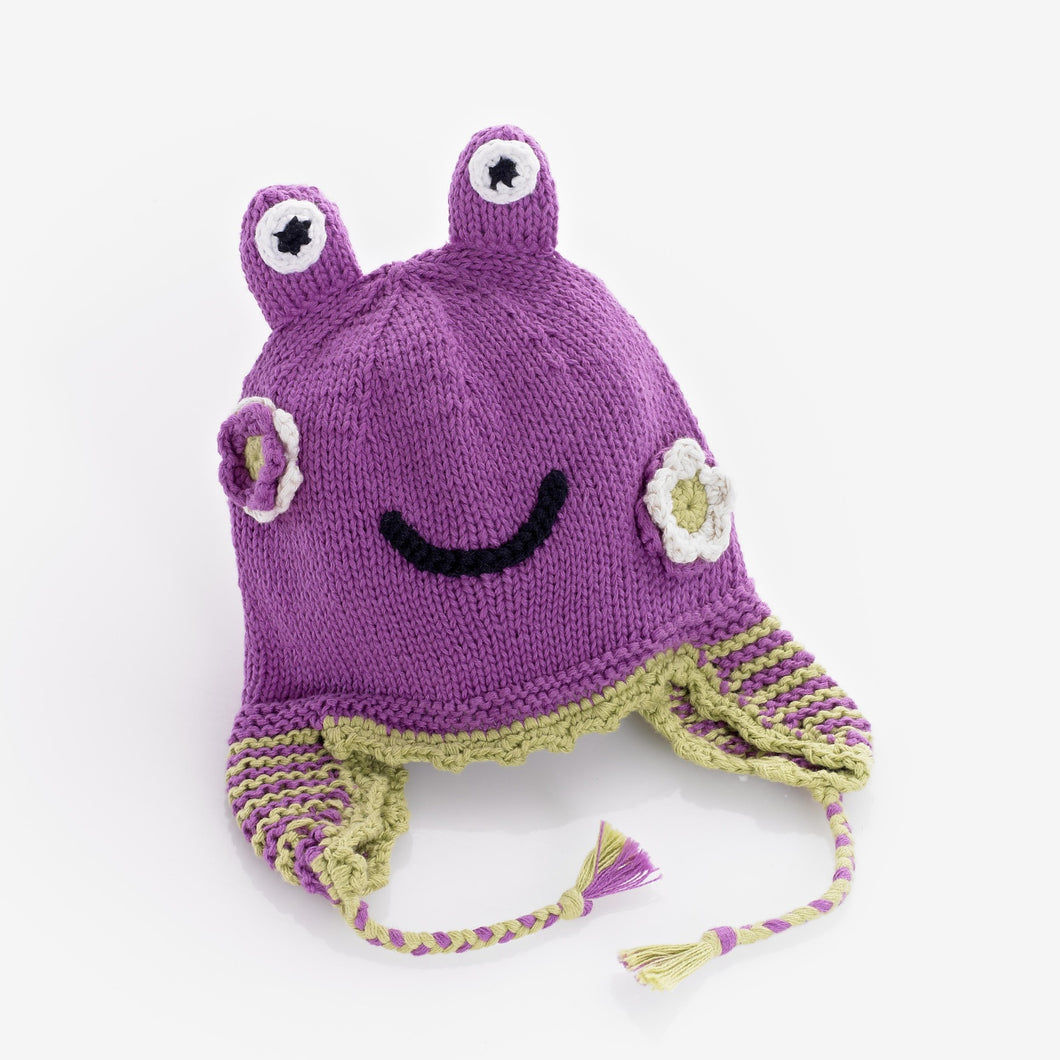 Pebble Hats – Motif Hat Frog Mulberry