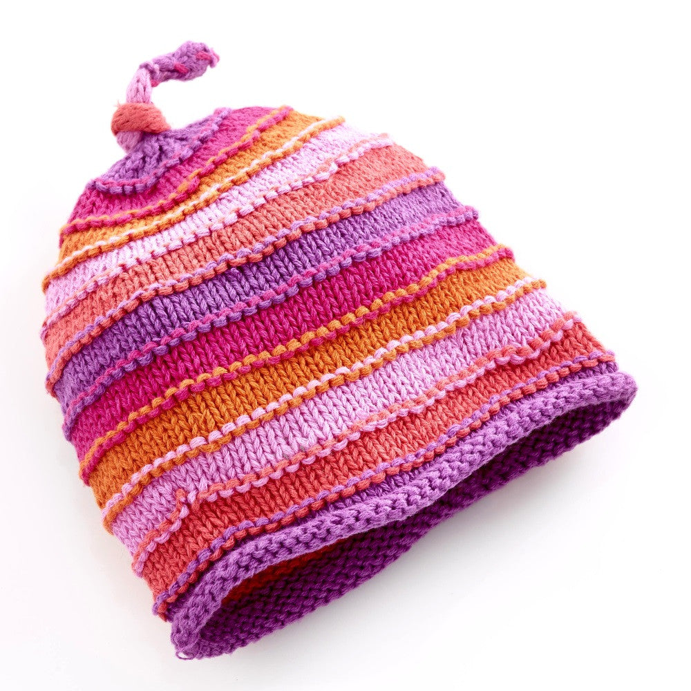 Pebble Hats – Pink Stripey