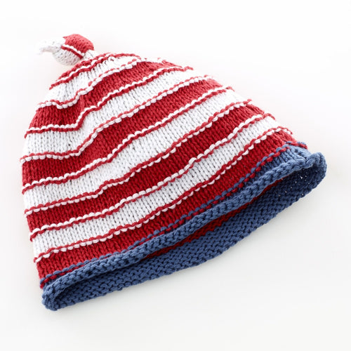 Pebble Hats – Red/White