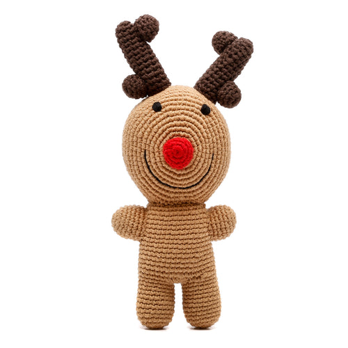 Pebble Rattle - Rudolph Reindeer