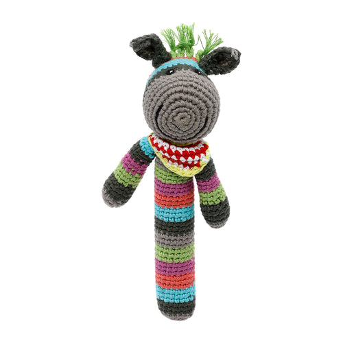 Pebble Rattle Stick – Donkey