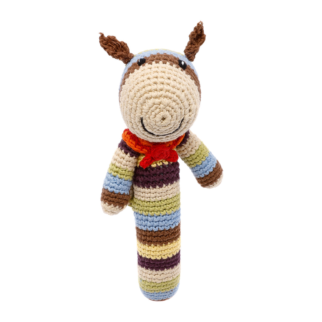 Pebble Rattle Stick – Squirrel
